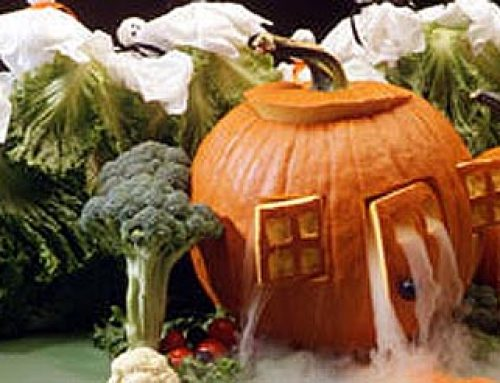 Carving a Jack-o'-Lantern House